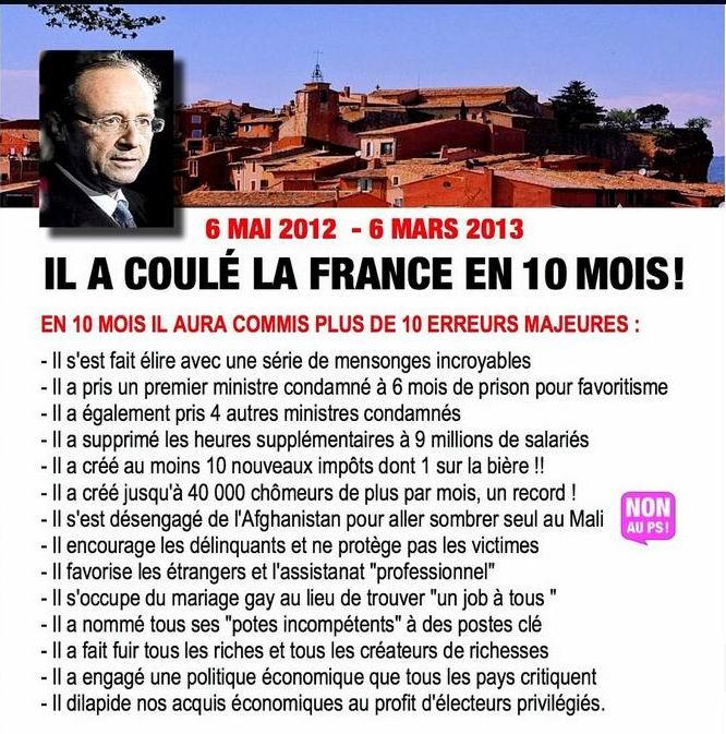 IL A COULE LA FRANCE EN 10 MOIS
