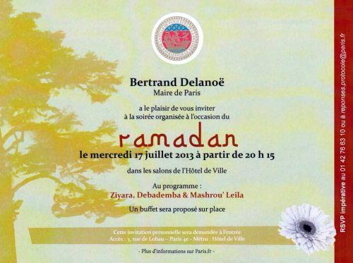 RAMADAN INVITATION DELANOE